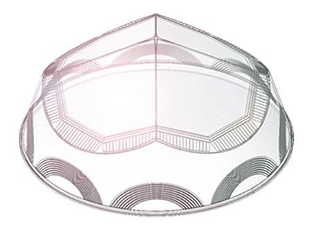 钻石形采光罩模拟-自然光照明系统