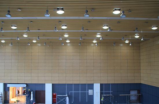 光导照明将太阳光引进雅安体育馆