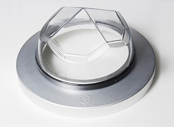 钻石形采光罩实物-自然光照明系统