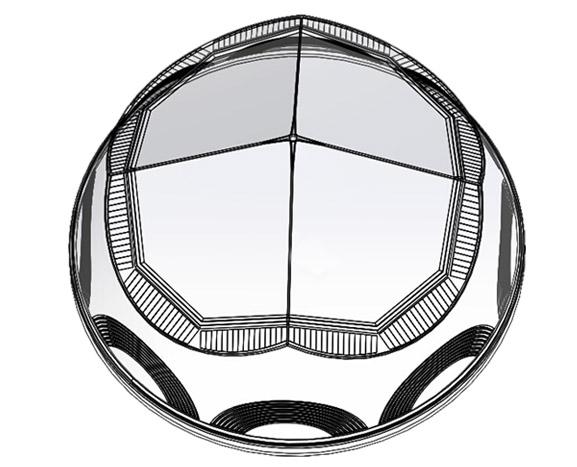新型钻石型采光罩-无电照明系统