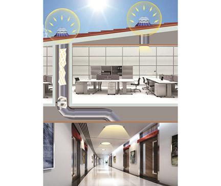 系统原理图-导光管采光系统